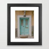 Mint Door Framed Art Print