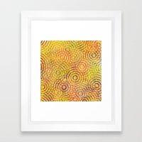 Rainbow Drizzle Framed Art Print