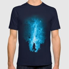Reach For The Stars Mens Fitted Tee Navy SMALL