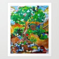 Backyard Fig Tree Art Print