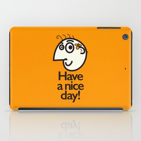 Have A Nice Day Happy Character iPad Case