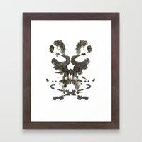 Inkblot Skull Framed Art Print