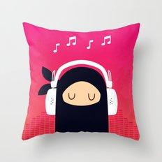 Music Ninja Throw Pillow