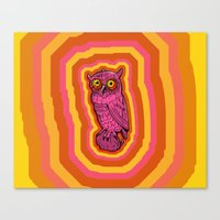 Psychowl Canvas Print