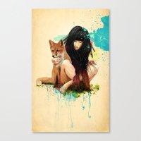Fox Love Canvas Print