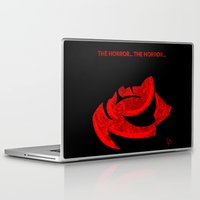 horror Laptop & iPad Skins featuring The Horror... The Horror... by Carlos Ramirez