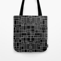Map Lines Silver Tote Bag
