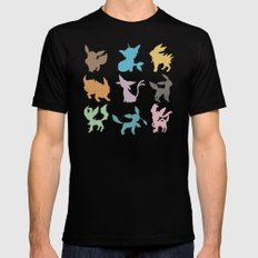 Eeveelution Mens Fitted Tee Black SMALL