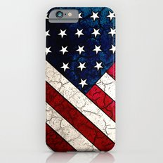 Stars & Stripes - Distressed American Flag Art iPhone 6 Slim Case