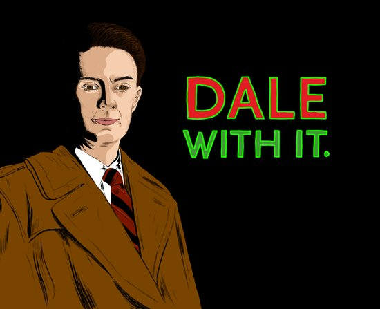DALE WITH IT. Art Print