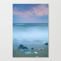 Stones in the beach Canvas Print