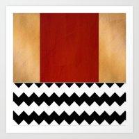 Shiny Copper Crimson Red… Art Print