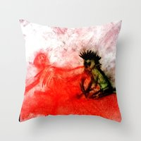 Death Comes Ripping Throw Pillow