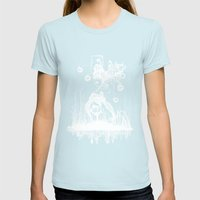 Swamp Lady Inverted Womens Fitted Tee Light Blue SMALL