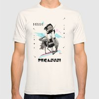 ---->HELLO PEGASUS!  Mens Fitted Tee Natural SMALL