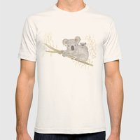 Koala & Baby Mens Fitted Tee Natural SMALL