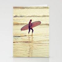 Golden Surf Stationery Cards