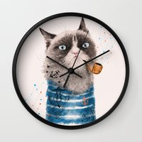 Sailor Cat III Wall Clock