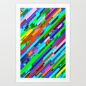 NeonGlitch 3.0 Art Print