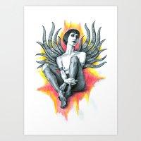 Tania Tentacles Art Print