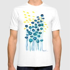 The Mermaid's Wineglasses Mens Fitted Tee White SMALL