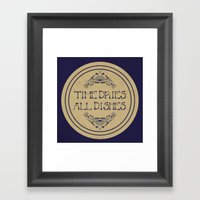 Time Dries All Dishes Framed Art Print