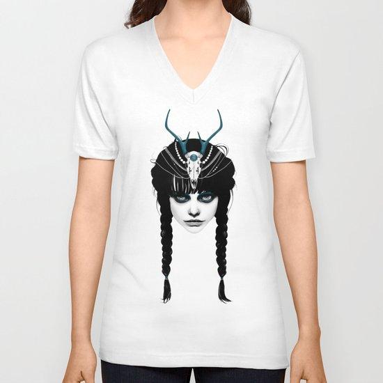 Wakeful Warrior - In Blue V-neck T-shirt