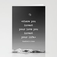 Invest your love Stationery Cards