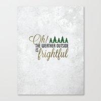 Let It Snow! Canvas Print