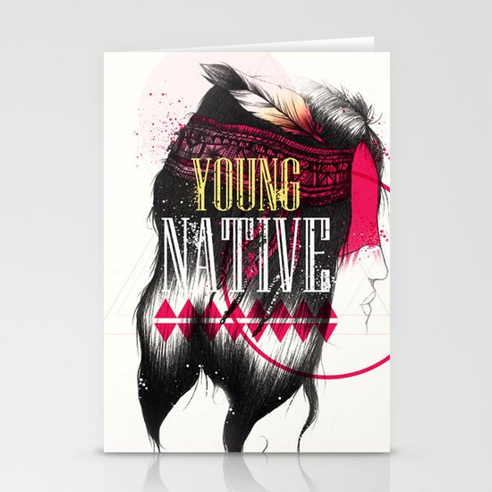 Young Native Stationery Card