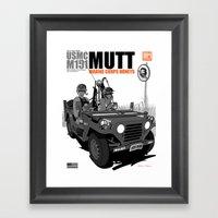 Marine Corps Honeys - Black Edition Framed Art Print