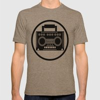 BoomBox Mens Fitted Tee Tri-Coffee SMALL
