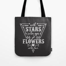 Stars in Her Eyes Flowers in Her Hair Tote Bag