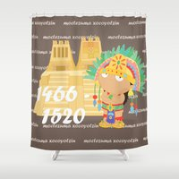 Moctezuma Xocoyotzin Shower Curtain