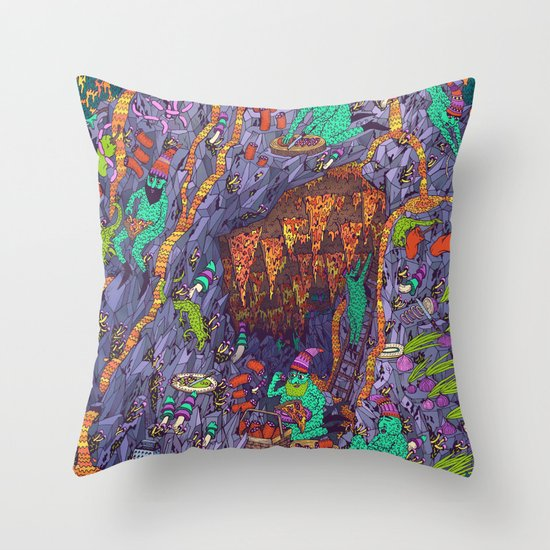 The Pizza Mine Throw Pillow