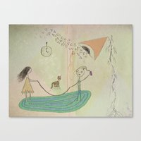 Jumping Rope In The Livi… Canvas Print