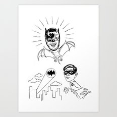 Holy Boastful Bat-man! Art Print