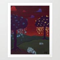 Glow Print Art Print