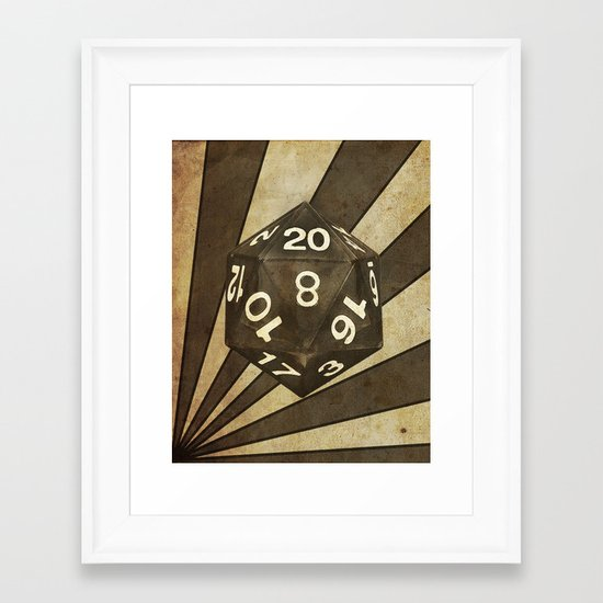 D20 Framed Art Print