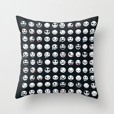 Jack's Emoticons Throw Pillow