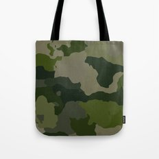 Shades of Green Camo Tote Bag