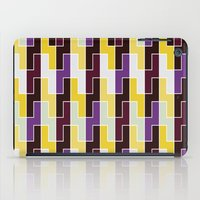 Purple & yellow rectangle pattern iPad Case