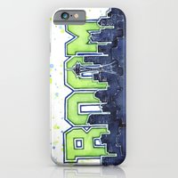 iPhone & iPod Case featuring Seattle Legion of Boom Space Needle Skyline Watercolor  by Olechka