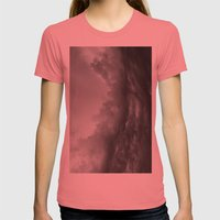 Storm arriving Womens Fitted Tee Pomegranate SMALL