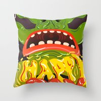 Happy Joy Throw Pillow