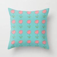 Color Me Pink With Sprin… Throw Pillow