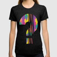 Zig Paint Womens Fitted Tee Tri-Black SMALL