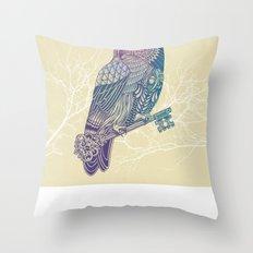 Owl King Color Throw Pillow