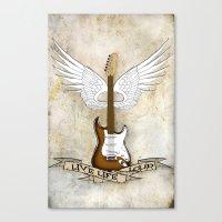 Live Life Loud Canvas Print