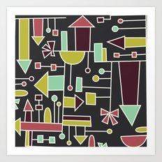 doodat houses Art Print